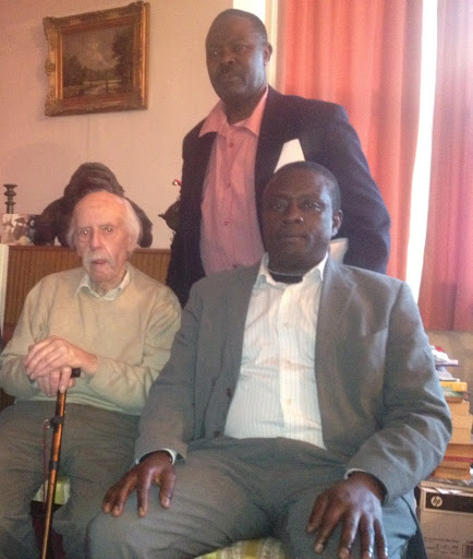 In the photos with Bob Astles at his residence in London is Ezzelddeen Haggaz and standing behind is Captain Muhammad Seruwagi. Bob Astles died in December 2012 at the age of 88