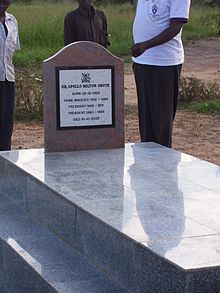 Grave of Dr. Milton Obote