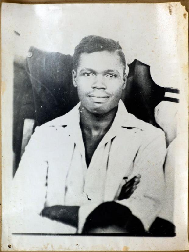 a young Milton Obote as one of the prefects at Busoga College, 1947