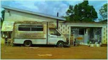 What used to be a medical ambulance at Kawolo Hospital. The effects of acts of grand corruption and impunity on delivery of basic medical services