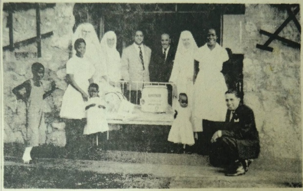 'The oxygen tent unit, is presented to the staff of St. Anthony's Hospital. Lions gift to Tororo Hospital.' Uganda Argus, January 1 1966