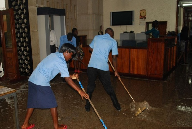 Meanwhile, our parliament was flooding this week after a heavy downfall