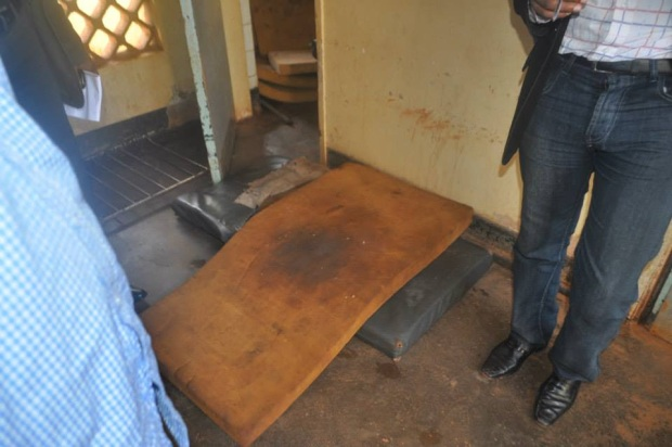 Matress in one of the wards at Jinja Hospital
