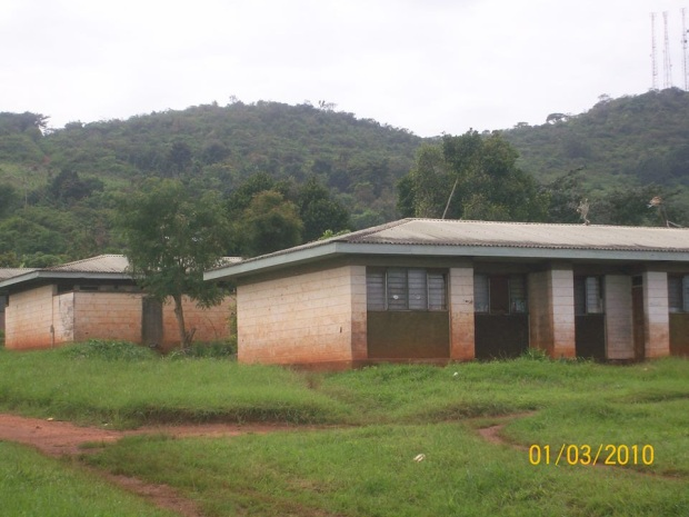 Staff houses , one room is shared by four medical officers
