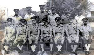 Police photo in uganda's early 1950s.Jim McGillavray is front row 3rd left