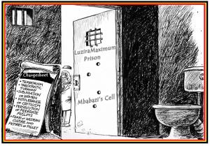 Mbabazi's cell at Luzira is ready(Cartoon by John Nsubuga)